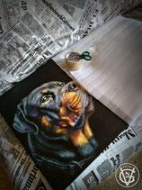 Cuadros al óleo de compañeros animales por encargo. Sobre tabla o lienzo.