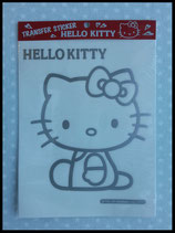 Autosticker, Stickersilhouette, Hello Kitty, silber