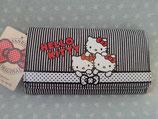 Brieftasche, Portemonnaie, Geldbörde, Geldbeutel, Damen, Hello Kitty, triple schwarz