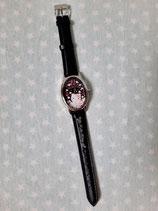 Armbanduhr, Damen Uhr, Hello Kitty, rose black