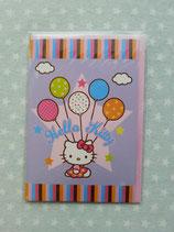 Klappkarte, Glückwunschkarte, Einladungskarte, Hello Kitty, star lila
