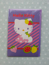 Klappkarte, Glückwunschkarte, Einladungskarte, Hello Kitty, lila 1
