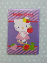Klappkarte, Glückwunschkarte, Einladungskarte, Hello Kitty, lila 2