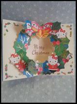 Hello Kitty, X-Mas Karte, groß 1