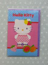 Klappkarte, Glückwunschkarte, Einladungskarte, Hello Kitty, blau 2
