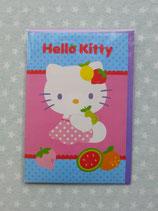 Klappkarte, Glückwunschkarte, Einladungskarte, Hello Kitty, blau 1