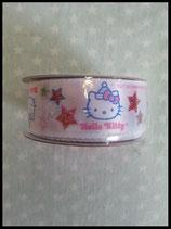 Hello Kitty, Stoff- Geschenkband, weiß