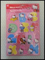 Alphabet 3D Sticker, Wanddeko, Kinderzimmer Deko, Hello Kitty