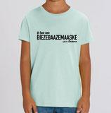 Biezebaazemaaske - Pistachegroen met zwarte opdruk