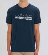 """""""Maan Gent in zie u girre"""" met Skyline - blauw met witte opdruk"""