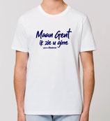 """""""Maan Gent in zie u girre"""" - wit met blauwe opdruk"""