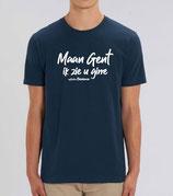 """""""Maan Gent in zie u girre"""" - blauw met witte opdruk"""