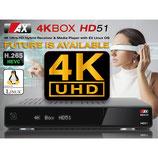 AX 4K-BOX HD51 UHD 2160p E2 Linux Receiver mit DVB-C/T/T2 Tuner