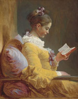 Young girl reading - Mint by Michelle decoupage