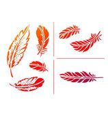 Stencil Feathers