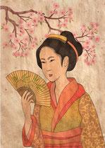 Geisha - Mint by Michelle decoupage