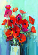 Poppies - Mint by Michelle decoupage