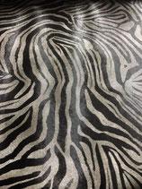 "Edelstahlliege groß 130x85, Kunstlederbezug ""Zebra schwarz/grau"""