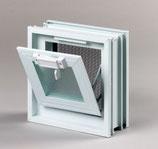 Lüftungsfenster Lüftungsflügel Glasbausteine 189x189x80mm für 1 Glasbaustein
