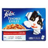 FELIX TENDRES EFFILES VIANDE GELÉE 12X100GR