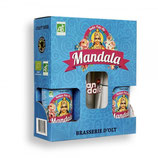 COFFRET 2x33cl BIERES MANDALA IPA BIO + 1 VERRE
