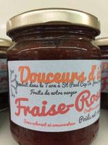 CONFITURE FRAISE-ROSES 240GR