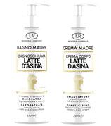 Bagnodoccia  e crema per il corpo al latte d' asina flaconi da 250 ml