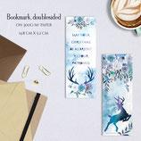 BOOKMARK - Xmas Deer