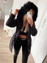 wintermantel 'black in black'
