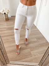 jeans 'high waist white Knöpfe'
