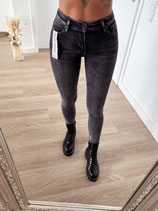 jeans 'high waist darkgrey basic '