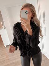 bluse 'black ruffles'