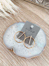 earrings 'golden circle'