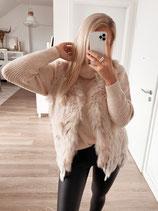 fellweste 'fluffy beige'