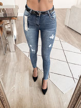 jeans 'high waist denim blue'