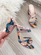 high heels 'coloured snake'
