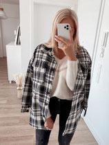 hemd 'karo black & white'