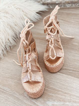 schnür sandalen 'roségold'