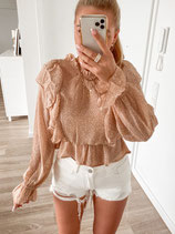 bluse 'beige points'