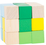Bunter Konstruktionswürfel grün-blau-gelb (10687)