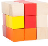 Bunter Konstruktionswürfel rot-rosa-orange (10687)