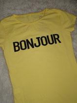 Shirt Bonjour (Geel)