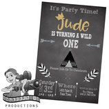 Wild One; Monochrome: Invites