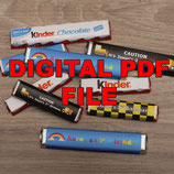 Rainbow; Kinder Choc Wrapper; Digital PDF File