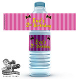 Bows Water Bottle Labels  - DIGITAL PDF FILE
