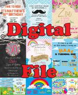 Bubble Invites - DIGITAL PDF FILE - Add Photo