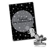 Milestone Cards: Elephant, Monochrome