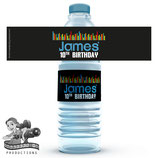 Music Water Bottle Label
