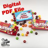 Skittles Box Wrapper; Digital PDF File