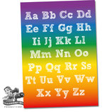 Alphabet Poster; Rainbow
